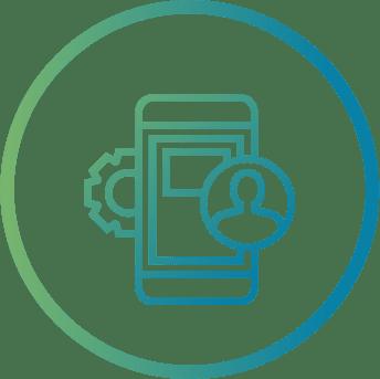Un teléfono celular con la aplicación de Alfy